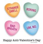 Anti-Valentine's Day hearts