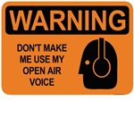 warning: don't make me use my open air voice