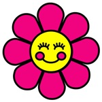 Smiley Pink Flower