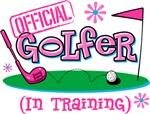 Girl Golfer In Training