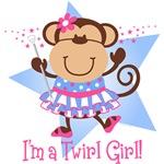 Monkey Twirl Girl