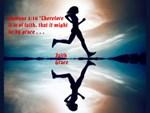Romans 4:16, Grace follows Faith