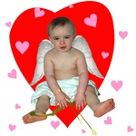 Lots of Hearts Cupid T-shirts & Gifts