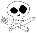 White Foodie Skull