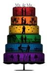 Gay Pride Wedding Cake