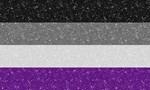 Glitter Asexual Pride Flag