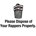 4 different dispose of rappers designs