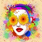 Girl Summer Flowers Eyes