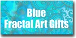 Blue / Turquoise Fractal Art Gifts
