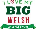 I Love My Big Welsh Family Tshirts