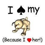 Spade/Heart Dog