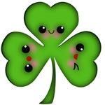 Irish Kawaii Shamrock