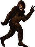 Bigfoot Yeti Sasquatch Peace