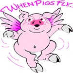 Pink Flying Pig #3