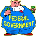 Fat Federal Government Pig