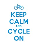 Keep Calm and Cycle On (Blue)