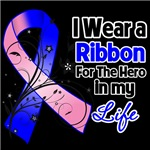 Ribbon Hero in My Life Male Breast Cancer Shirts