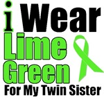 I Wear Lime Green Ribbon For My Twin Sister