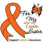 Leukemia Ribbon For My Twin Sister Shirts & Gifts