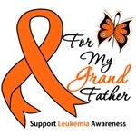 Leukemia Ribbon For My Grandfather Shirts