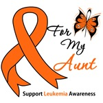 Leukemia Ribbon For My Aunt Shirts & Gifts