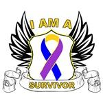 Survivor Wing Crest - Bladder Cancer Shirts
