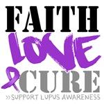 Faith Love Cure - Lupus Shirts and Apparel