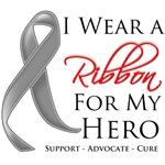 Brain Cancer I Wear a Ribbon For My Hero Shirts