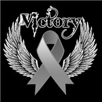 Victory Wings Brain Cancer Shirts