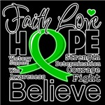 Faith Hope Bile Duct Cancer Shirts
