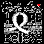 Faith Hope Bone Cancer Shirts
