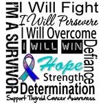 Thyroid Cancer Persevere Shirts
