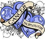 Stomach Cancer Survivor Double Heart Shirts