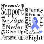 Stomach Cancer Supportive Words Shirts and Gifts