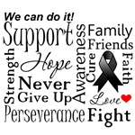 Skin Cancer Supportive Words Shirts and Gifts