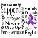 Pancreatic Cancer Supportive Words Shirts