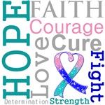 Hope Faith Courage Thyroid Cancer Shirts