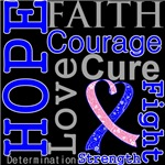 Hope Faith Courage Male Breast Cancer Shirts