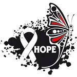 Hope Grunge Butterfly Bone Cancer Shirts