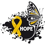 Hope Grunge Butterfly Appendix Cancer Shirts