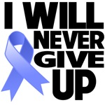I Will Never Give Up Stomach Cancer Shirts