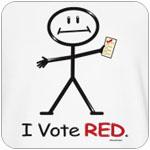 Stick Figure Vote Red