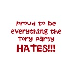 Proud to be everything a Tory hates