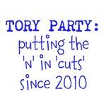 Tory, 'n' in 'cuts'