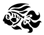 Black Tropical Fish