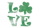 Shamrock LOVE green clover