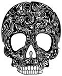 Psychedelic Skull Black