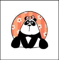 girl flower panda