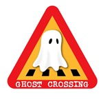Cute Ghost Crossing Sign