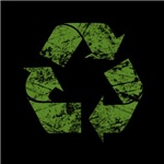 Recycle Sign -distressed